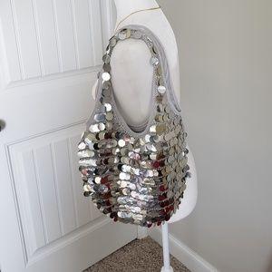 Handbags - Vintage Disco Sequin  Crochet Purse Handbag.